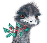 Emu at Christmas