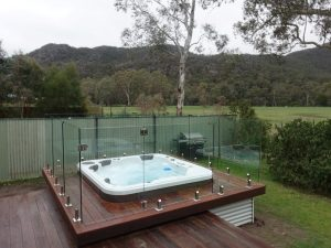 Spa with Grampian Ranges views