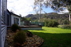 Backyard with Grampian Ranges views